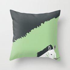 Zebra in the Woods Throw Pillow