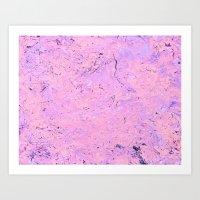 Slime Mold - Pinkified Art Print