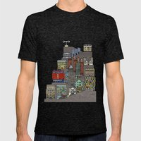 Townscape Mens Fitted Tee Tri-Black SMALL