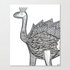 Dino Ostrich Canvas Print