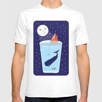 Full Waterglass Moon - N… Mens Fitted Tee White SMALL