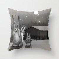 Night Scene Throw Pillow