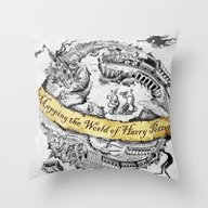 Harry's Map Throw Pillow