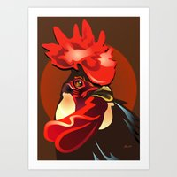 Andalusian Rooster 2 Art Print