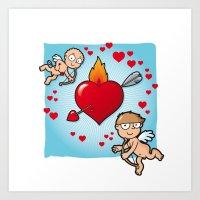 Cupid's dart Art Print