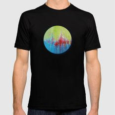 A Day At The Beach/Sonia Dada SMALL Black Mens Fitted Tee