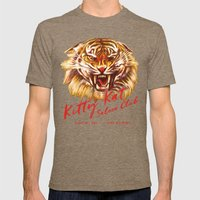 Kitty Kat Saloon Club - Cream Mens Fitted Tee Tri-Coffee SMALL