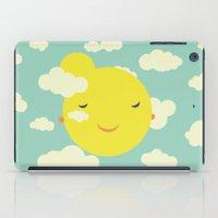 Miss Sunshine In Clouds iPad Case