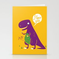 The Friendly T-Rex Stationery Cards