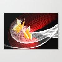 Tanz Der Schmetterlinge Canvas Print