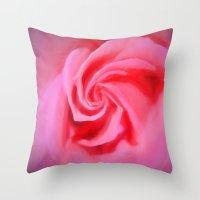 Folds Of Romance Throw Pillow