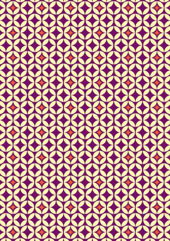 Repeated Retro - purple Art Print