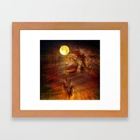 The Night Of The Head Wo… Framed Art Print