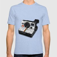 Horror Vacui - POLAROID Mens Fitted Tee Tri-Blue SMALL