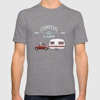 CAMPERS GONNA CAMP Mens Fitted Tee Tri-Grey SMALL