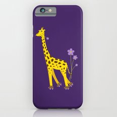 Funny Giraffe Roller Skating iPhone 6 Slim Case