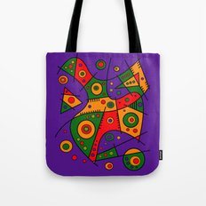 Abstract #240 Pizza Part… Tote Bag