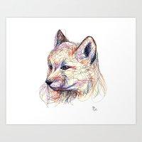 Baby Fox Art Print