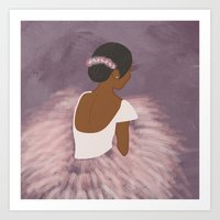 Art Prints featuring Ballerina Dancer  by UMe Images