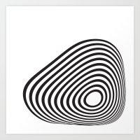 Circle Warp Art Print