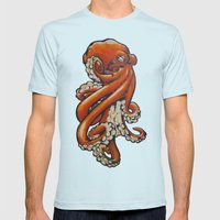 Octopus Mens Fitted Tee Light Blue SMALL