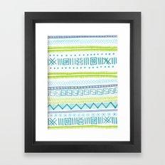 zig zagg Framed Art Print