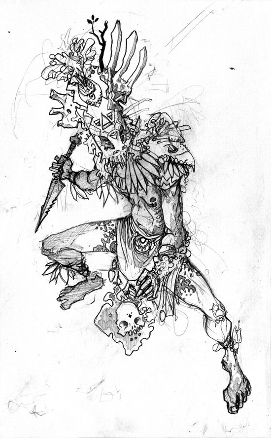 Witchdoctor Art Print