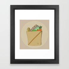 GROCERY BAG Framed Art Print
