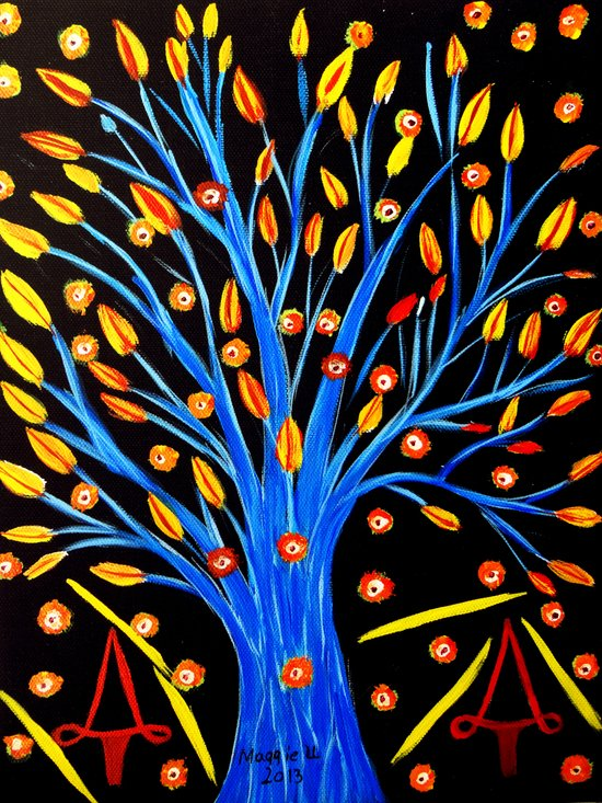 Blue tree/abstract Art Print