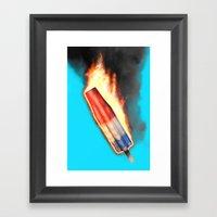 Bomb Pop Combustion Framed Art Print