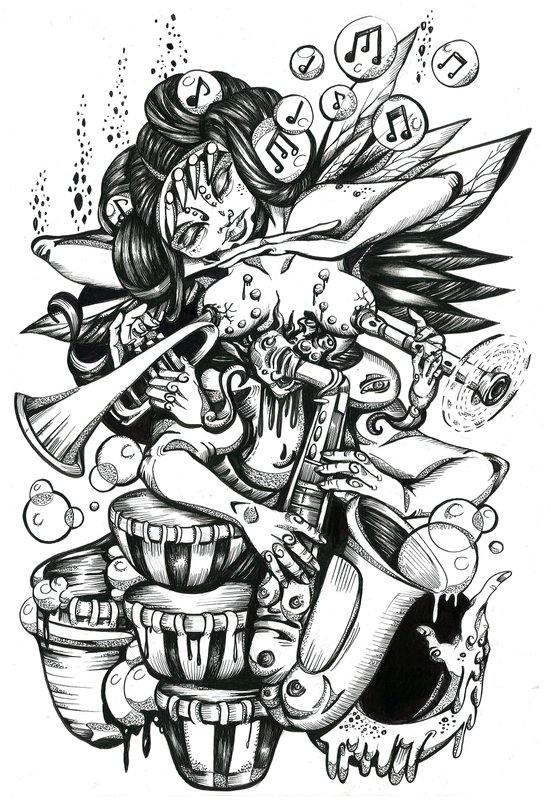 Music is Beauty Crumbling - ANALOG zine Art Print