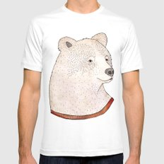Señor Oso White SMALL Mens Fitted Tee