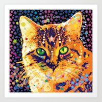 Catnip Kitty Art Print