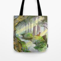 Ithilien, by a quiet stream Tote Bag