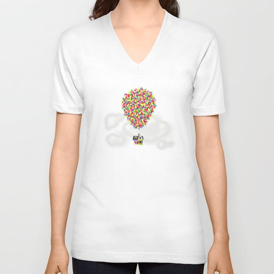 Up V-neck T-shirt