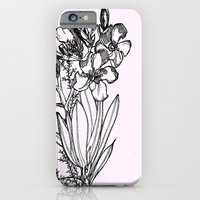 Flower In Black Ink iPhone 6 Slim Case
