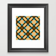Square Pattern Serie 1 Y… Framed Art Print