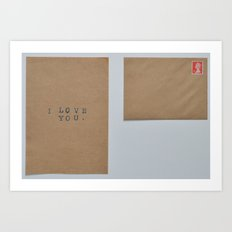 unsent letters project. Art Print