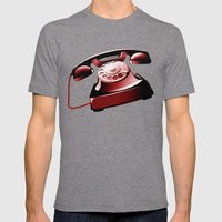 TELEPHONE Mens Fitted Tee Tri-Grey SMALL