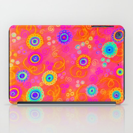 SWIZZLE STICK - Sweet Cherry Red Fruity Candy Swirls Abstract Watercolor Painting Feminine Art iPad Case
