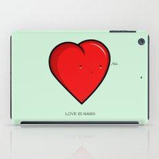 Love is hard... literally iPad Case