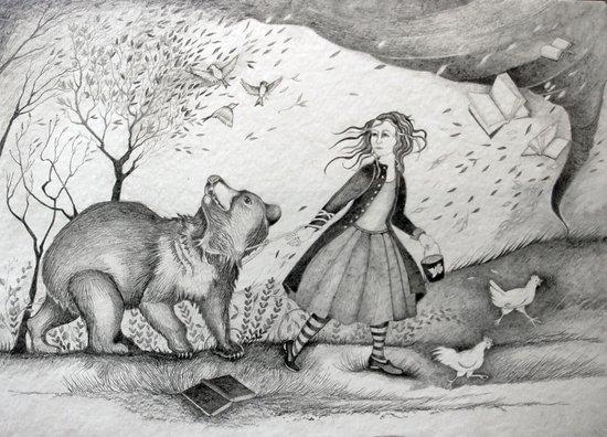 Storms, Bears, Berries, Birds, and Leaflings Art Print