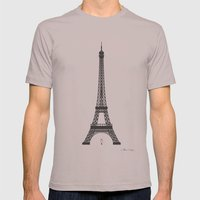 Eiffel Tower - First Kiss Mens Fitted Tee Cinder SMALL