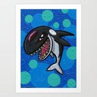 Bitey The Orca Art Print
