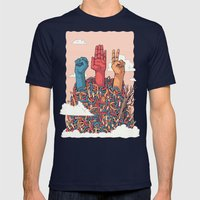 Rock Paper Scissors Mens Fitted Tee Navy SMALL