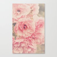 Roses In The Park Canvas Print