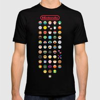 Mintendo Mens Fitted Tee Black SMALL
