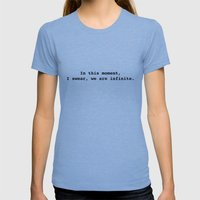We Are Infinite Womens Fitted Tee Tri-Blue SMALL