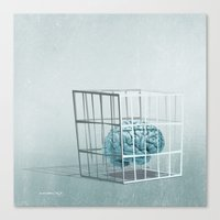 Caged... Canvas Print