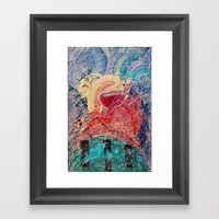 It formed itself after the gods defeated the Titans  Framed Art Print